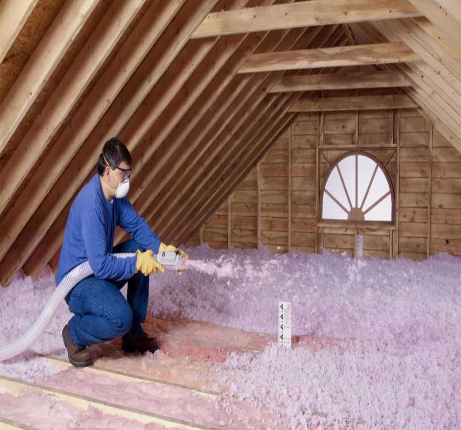 Batts Blow In Cellulose Insulation Installation The